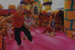 Fun bounce house party