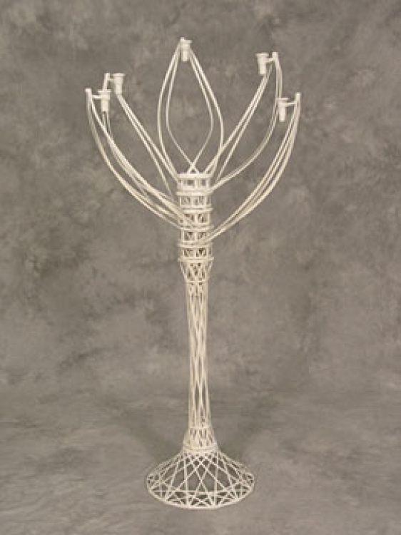 Wicker Candelabrum 5-Candle