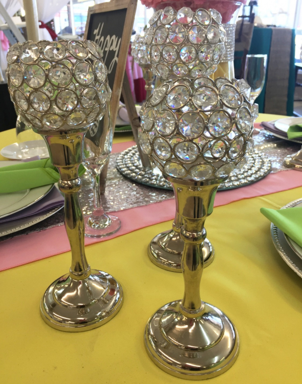 Candle Holder Goblet Style (set of 3)