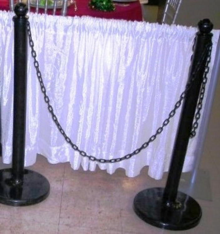 Black Stanchions (Plastic)