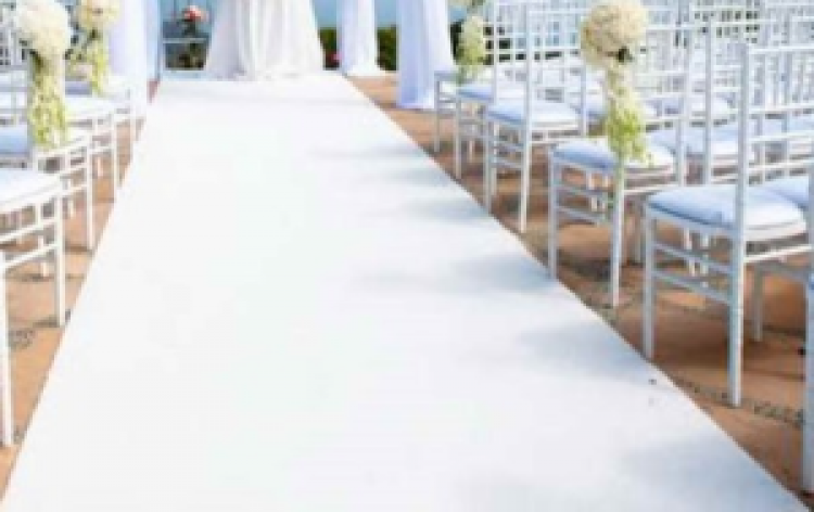 White Carpet Runner Walkway 4'x50'