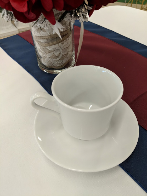 White China Cup w/Saucer