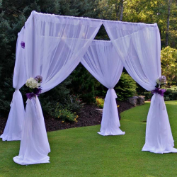 Choose Four Poly Sashes Wedd. Canopy